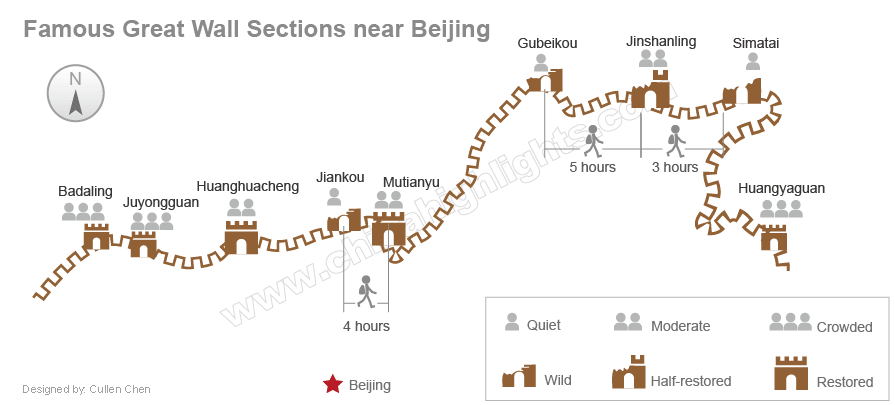 Great Wall Of China Map View.The Best 10 Sections Parts Of The Great Wall To Visit