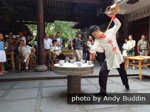 Cérémonie du thé au parc du Peuple de Chengdu