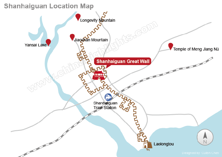 Shanhaiguan Great Wall Location Map