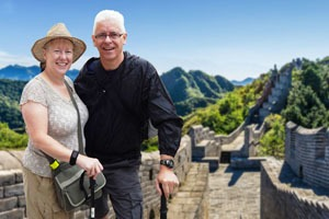 Western Tourists on the Great Wall