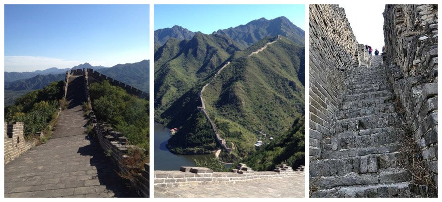 great wall hiking at Huanghuacheng