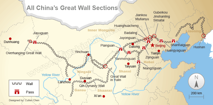 all great wall sections