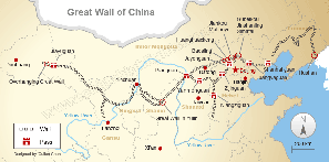 Great Wall Maps — Where the Great Wall Is and Was