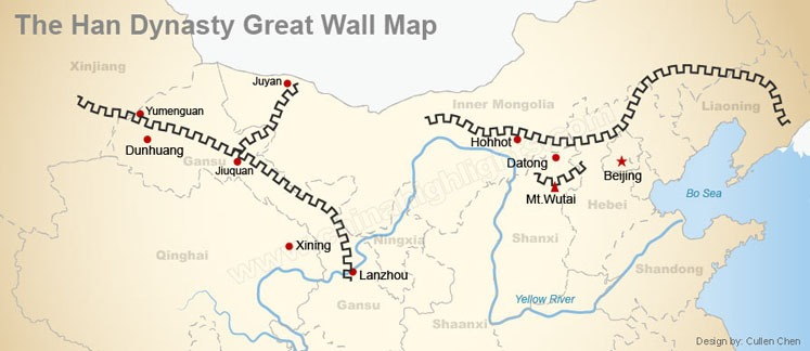 The Han Dynasty Great Wall Map