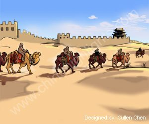 silk road and the great wall