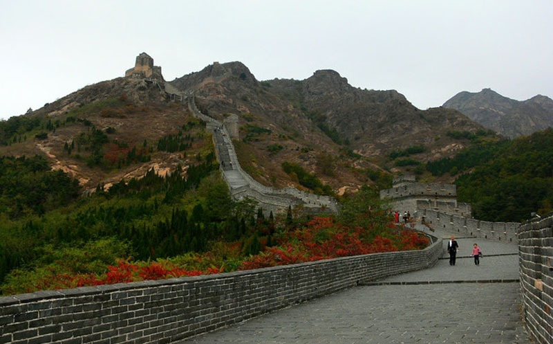 The Great Wall at Jiaoshan (Horn Peak) - the East End of the Wall