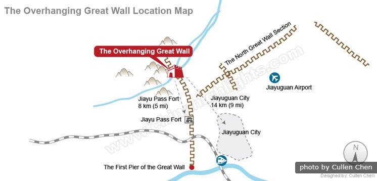 The Overhanging Great Wall Location Map