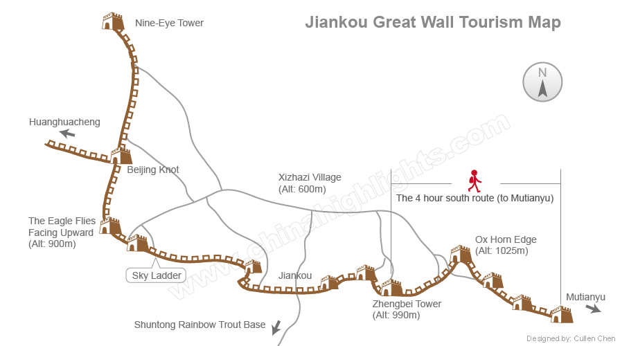 jiankou tourism map