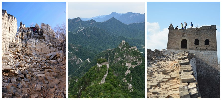 great wall hiking at Jiankou