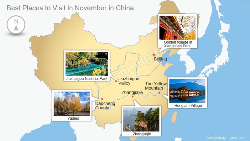 Best 5 places to visit in november in china where to go for Good places to travel in november