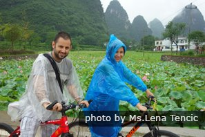 Biking in the wild nature in Yangshuo.