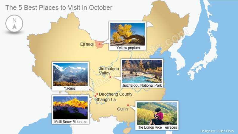 Five best places to visit in october top places to travel for Vacation destinations in october