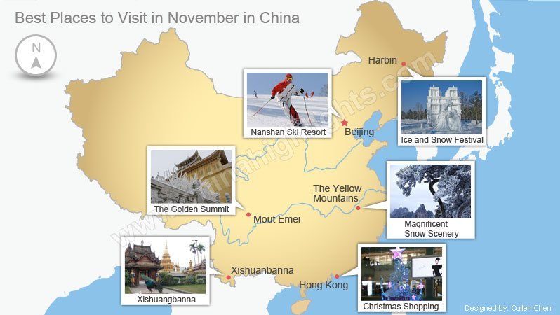 Top 6 places to visit in december in china for Best warm places to visit in november
