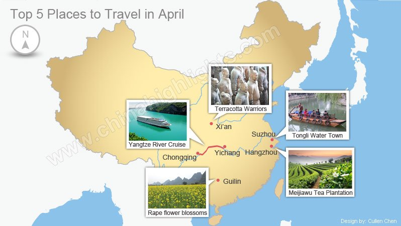 Top 5 places to travel in april where to travel in april for Best countries to move to