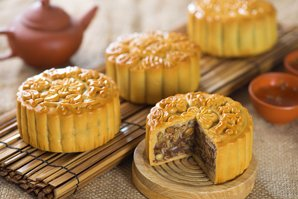 Five Kernel and  Roast Pork Mooncakes