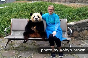 Get close to giant pandas in China