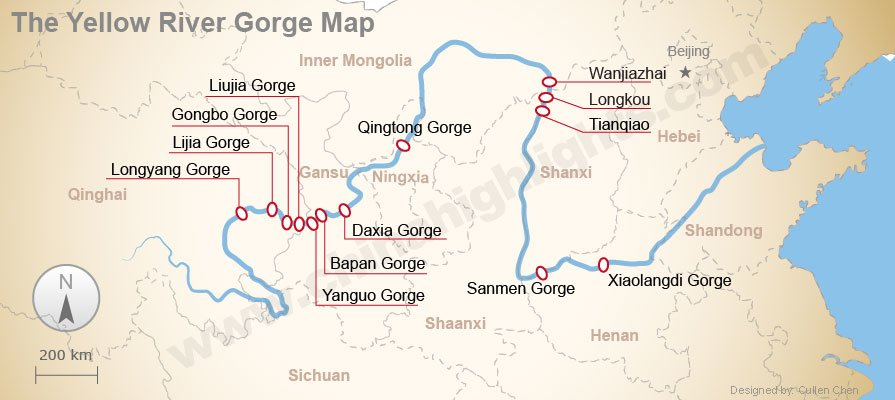 The Yellow River Gorge Map