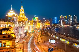 The night view of the Bund