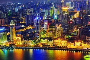 Shanghai's night view
