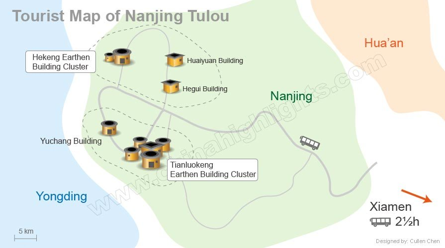 Nanjing tulo map