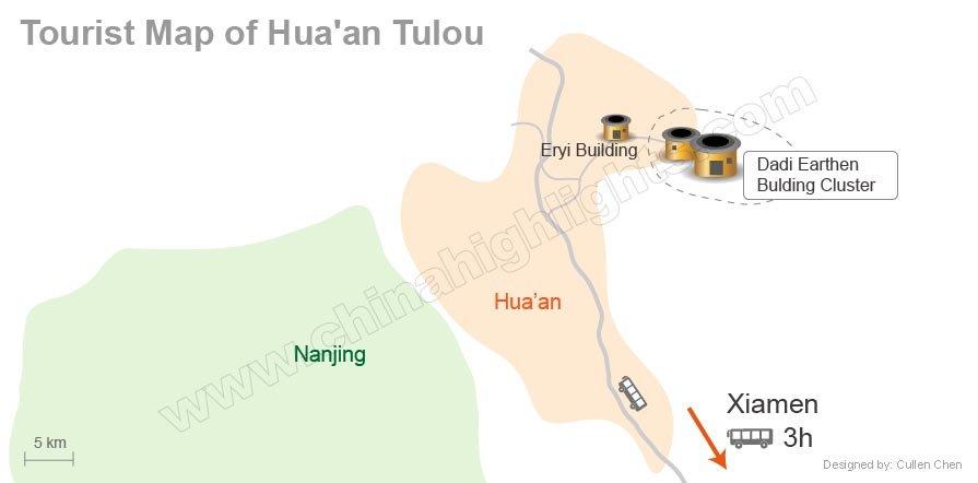 Huaan tulou map