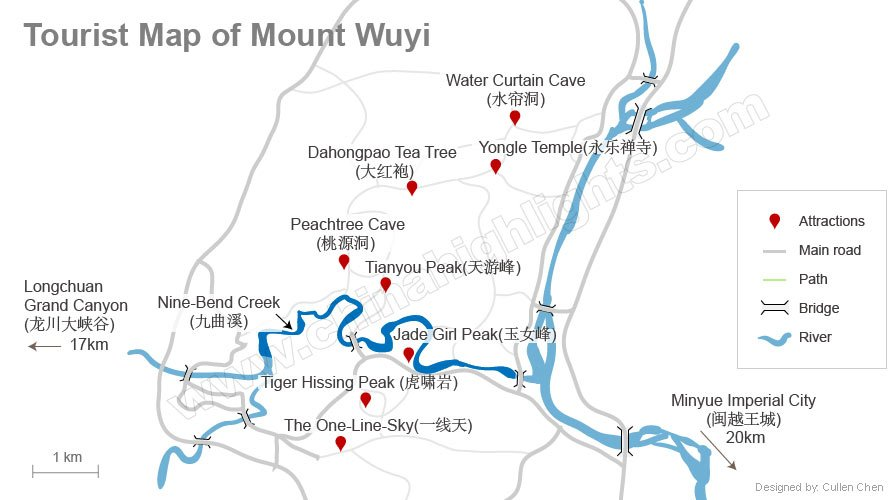 wuyishan tourist map