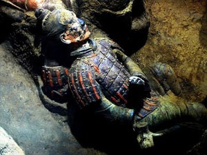 Terracotta Warriors with Original Colors
