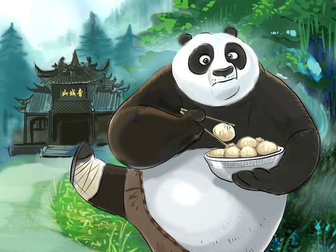 Kung Fu Panda - the most popular Giant Panda Movie