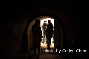 The tunnels in Zhangbi Ancient Castle