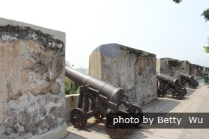 Macau Monte Fort battlements and cannons