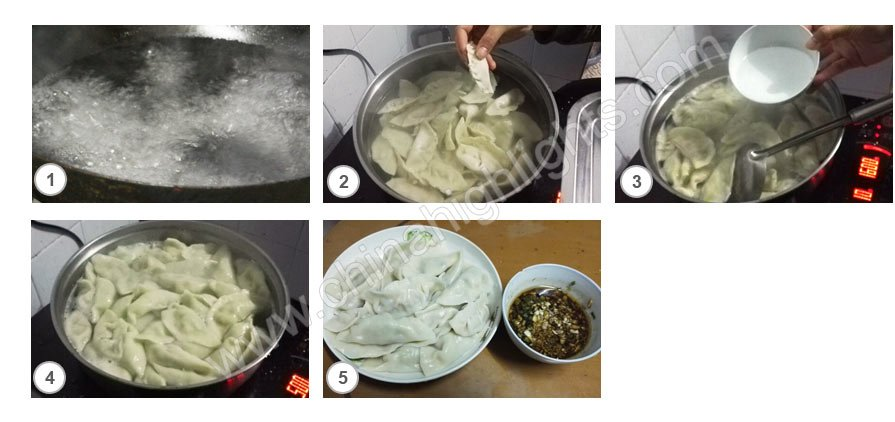 Cook the dumplings