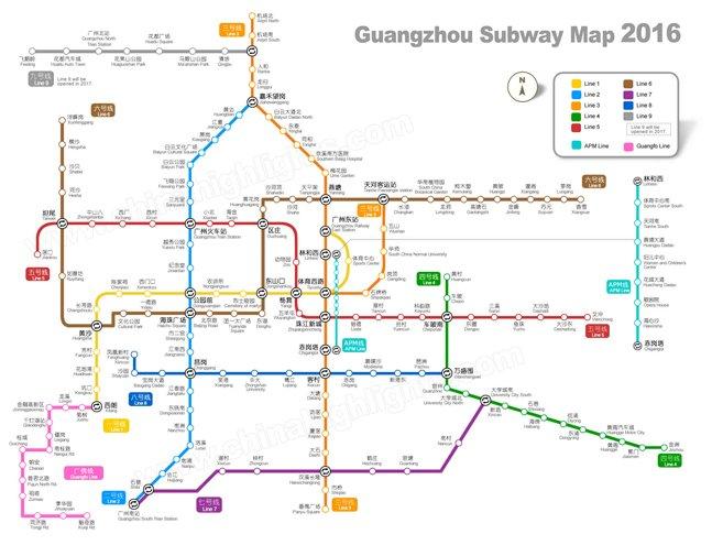 Guangzhou Map, Map of Guangzhou, Guangzhou City Map