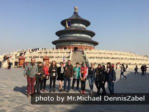 Our customers at the Temple of Heaven