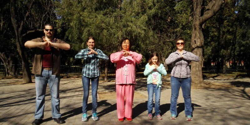 Learn playing Tai Chi at the Temple of Heaven
