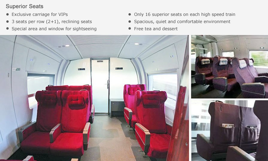 superior class seats