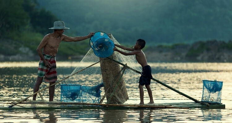 Fishing at Daluo River