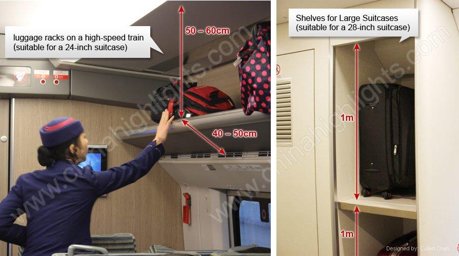 luggage racks on high speed train