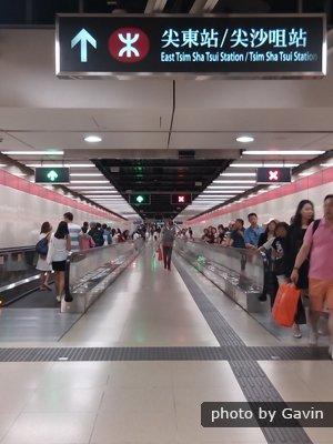 Hong Kong Tsim Sha Tsui MTR pedestrian underpass