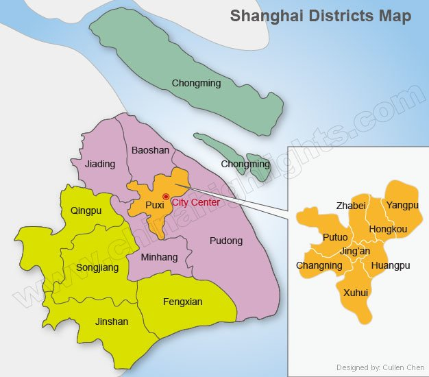 Shanghai District Map