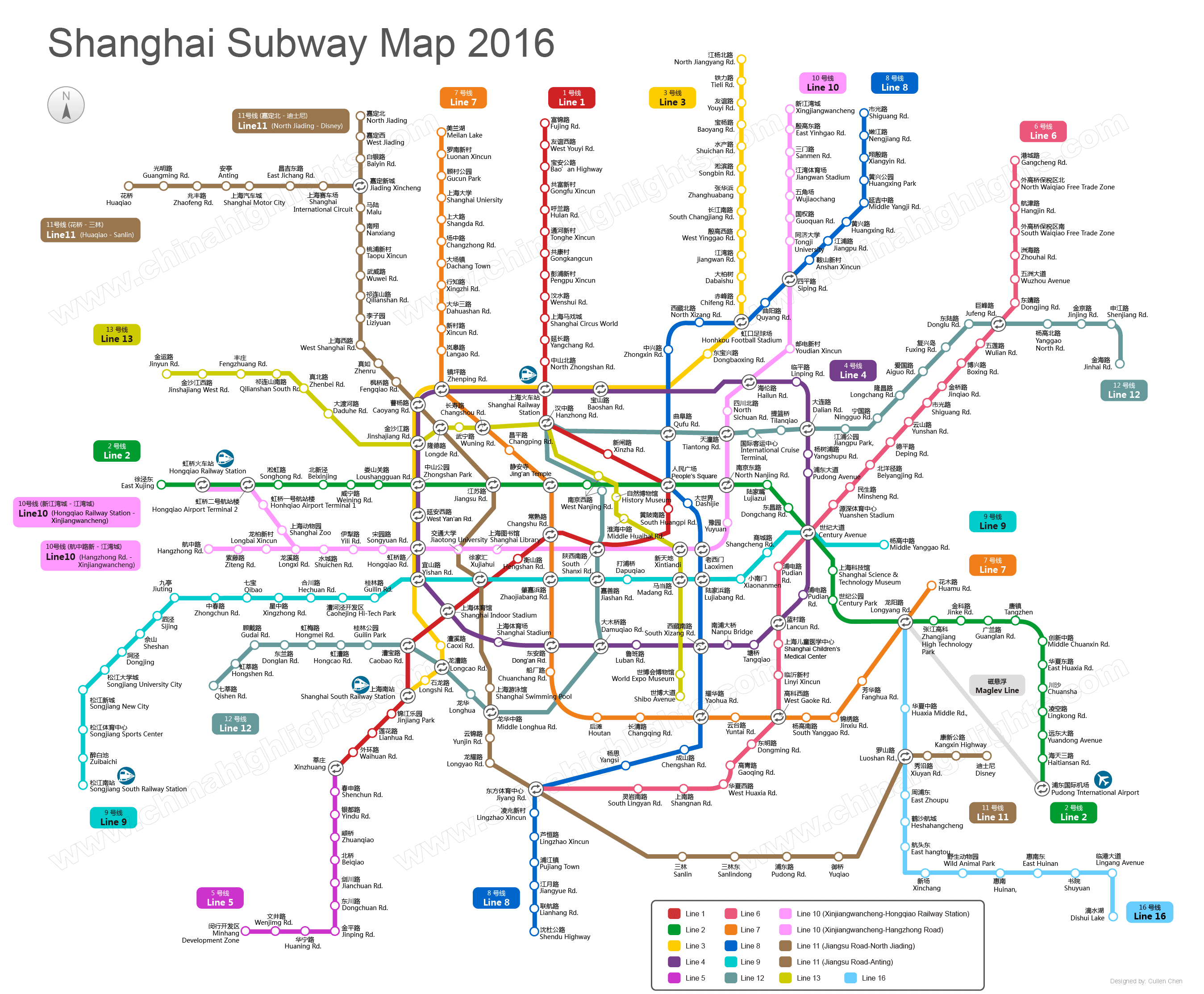 Shanghai Subway Map – Shanghai Tourist Attractions Map