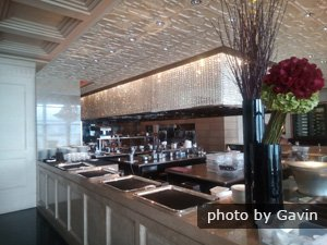 The open kitchen in Caprice
