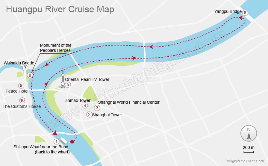 Huangpu River Cruise Route