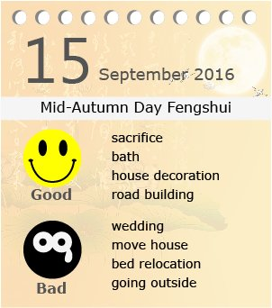 Mid-Autumn Day fengshui