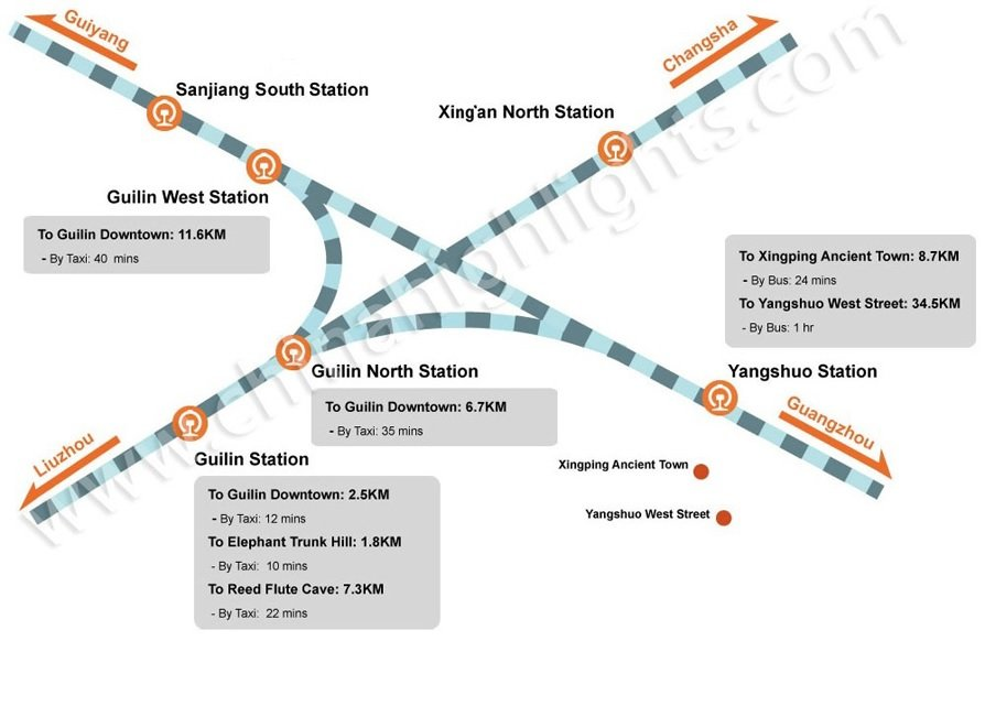 Guilin Railway Stations Map