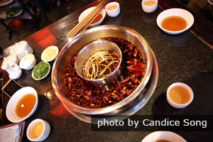 hotpot, a famous food in chengdu