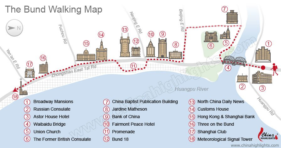 The Bund Walking Map