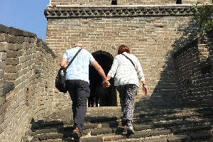 China Highlights customers on the Great Wall