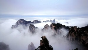 Sea of clouds in Huangshan