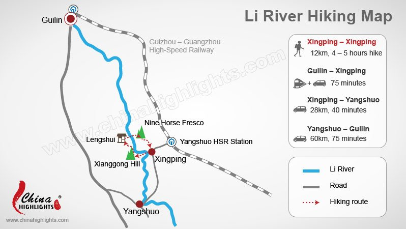 Li River Hiking Map