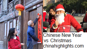 The Differences Between Chinese New Year and Christmas in the West